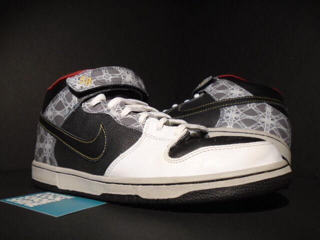 2008 NIKE DUNK MID ELITE SB TRIUMVIR FLY BEIJING BLANC Noir RED 350677-001 11 Chaussures de sport pour hommes et femmes