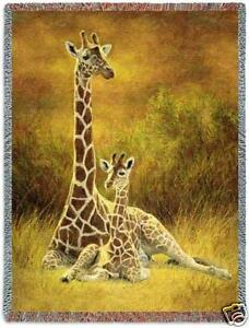 70x53 GIRAFFE Jungle Tropical Tapestry Throw Blanket