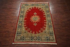 8X11-Antique-Hand-Knotted-Wool-Area-Rug-1940-039-s-Oriental-Carpet-7-11-x-11-2