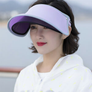 8fc2603f597 Lady UV Protection Visor Hats Golf Tennis Caps Outdoor Travel Wide ...