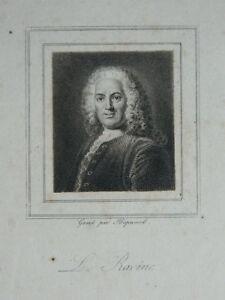 Incisione Ritratto Louis Racine da Hopwood