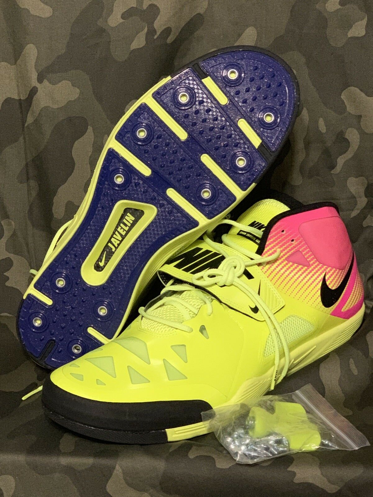 NEW  Nike Size 15 Mens Zoom Javelin Elite 2 OC Flywire Throwing shoes 882020-999