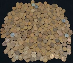 Details about Indian Head Cents & Wheat Cents mixed lot of 100 UNSEARCHED  pennies 2 rolls