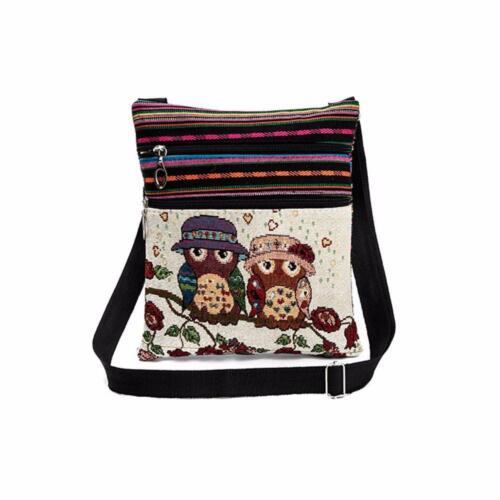 Embroidered Owl Tote Bags Women Shoulder Bag Handbags Postman Package