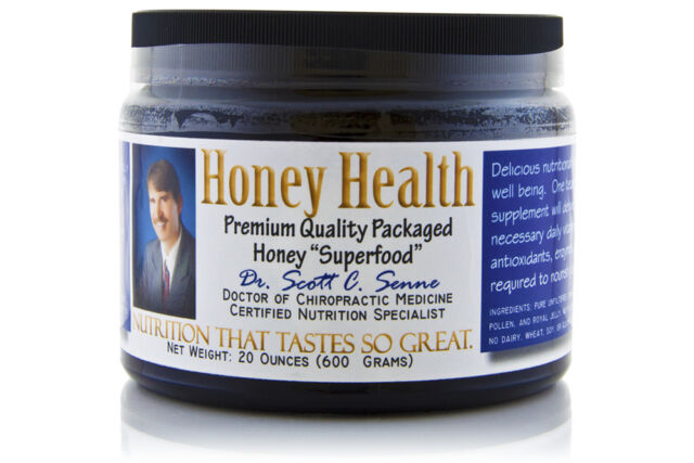 HONEY HEALTH 20oz Raw Honey Pollen Royal Jelly Spirulina Chlorella 100% Natural