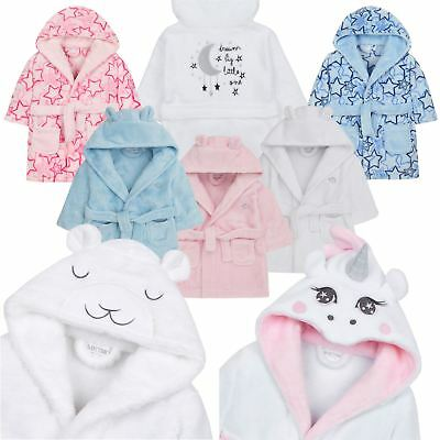 Soft Fleece Baby Hooded Dressing Gown // Bathrobe 6-24 Months Shooting Star