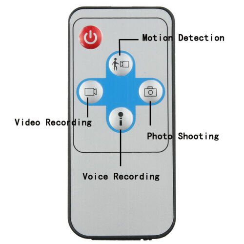 HD Mini Clothes Hook camera DVR Motion-Activated Hidden 720x480 IR Remote