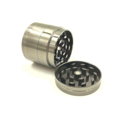 Chromium Crusher Grinder Herb 4 Piece Handle 40mm Sliver cF06