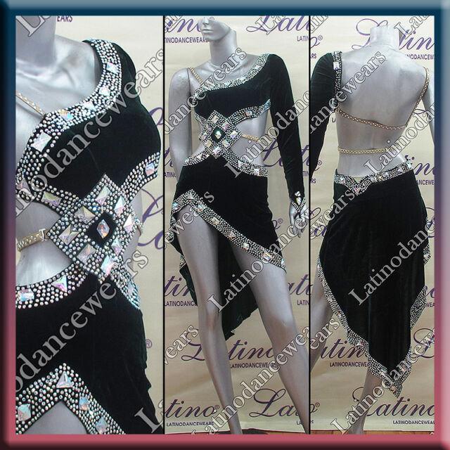 LATIN RHYTHM SALSA BALLROOM DANCE DRESS COMPETITION - SIZE S, M, L (LT743)