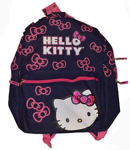 6b9a1d188b Old Navy Hello Kitty Blue   Pink Glitter Bowtie Bookbag Backpack ...