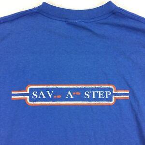 VTG-USA-80s-90s-Paper-Thin-Distressed-Sav-A-Step-T-Shirt-Tee-sz-LARGE-L-Grunge