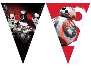 Star-Wars-drapeau-banniere-Bunting-Enfants-Fete-D-039-Anniversaire-Decoration-Garcons-Filles