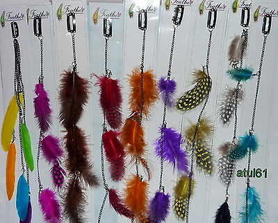 FEATHER SYNTHETIC EXTENSION CLIP IN DREADLOCKS PARTY GRIZZLY CHICKEN DECORATION