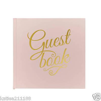 wedding pastel perfection pink gold guest book keepsake