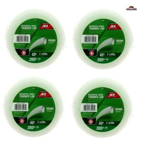 """.080/"""" x 40-Foot  Residential Grade Weed Trimmer Line ~ Round ~ NEW"""