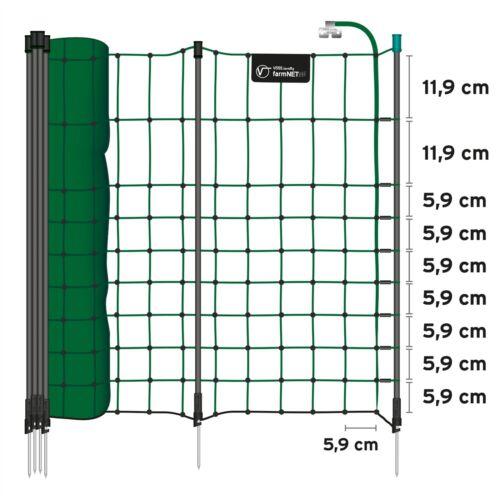 grün Elektrozaunnetz Zaun Weide Kleintiernetz 65cm Netz Kaninchenzaun farmNET