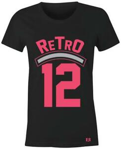 Retro-12-Women-Juniors-T-Shirt-to-Match-GS-034-Deadly-Pink-034-12-039-s