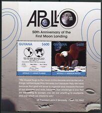 Guyana 2018 MNH Apollo 11 Moon Landing 50th Anniv 2v S/S Space Stamps