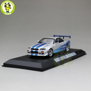 Defective-1-43-Greenlight-Fast-Furious-Brian-039-s-Nissan-Skyline-GT-R-Model-car-Toy