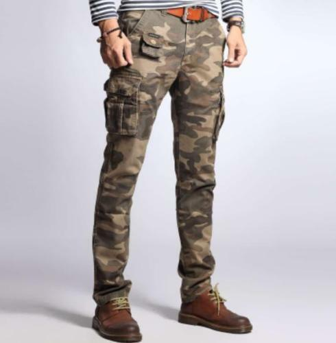 Men Pocket Overall Cotton Blend Skinny Overall Leisure Cargo Trouser Pants Chic