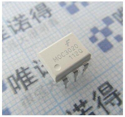 10PCS original DIP-6 MOC3020 Optoisolators Transistor Output FAIRCHILD