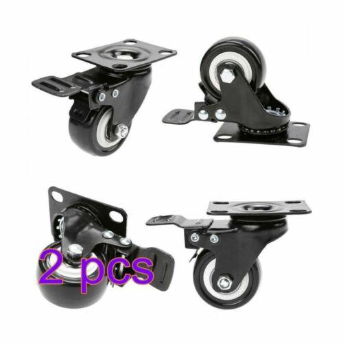 4x 200KG 50mm Rubber Swivel Castors Wheels Trolley Furniture Coffee Table Caster