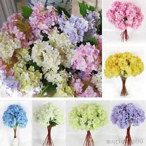 seidenblumen hortensien kunst blumenstrau floristik haus deko blumen 5 farben ebay. Black Bedroom Furniture Sets. Home Design Ideas