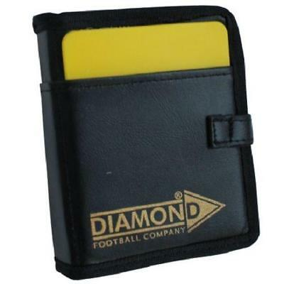 Red Deluxe Referee Wallet by Diamond Football Yellow Plastic Cards Free P/&P