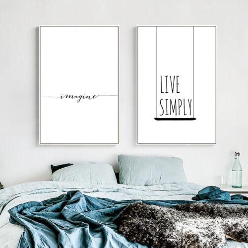 Motivaional Life Qute Canvas Nordic Art Poster Prints Living Room Decoration