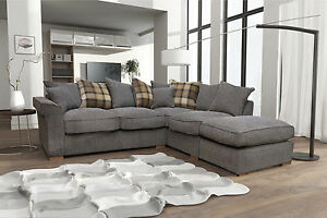 New Fable Large Corner Sofa Scatter Back with Free Footstool. cheap ...