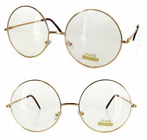 d6ac0abdb2 GOLD SILVER BLACK WIRE METAL ROUND FRAME HARRY POTTER CUSTOME CLEAR ...