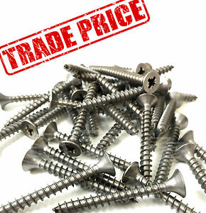 TRADE-PRICE-A4-MARINE-NO-RUST-STAINLESS-STEEL-POZI-CSK-WOOD-SCREWS-6g-7g-8g
