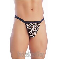 Mens Leopard Print Tarzan Pouch / Thong Underwear NEW
