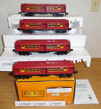 MTH 30-2448-1 METRO Lo-V 4-CAR RED SUBWAY SET TRAIN O GAUGE NEW YORK SOUND 2.0