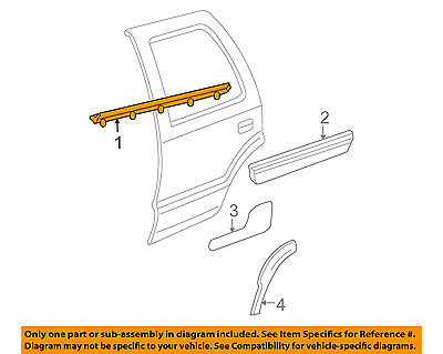 Rear Genuine GM 10441456 Door Molding Lower