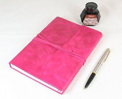 Raspberry Large Papuro Amalfi Leather Journal