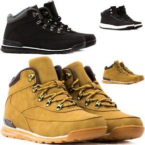 Scarponcini Stivali Stivaletti Scarpe Uomo Donna Pelle PU Anfibi Sneakers T47