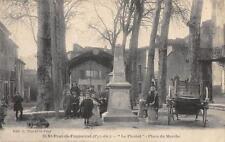 CPA 66 SAINT PAUL DE FENOUILLET LE PLANIOL PLACE DU MARCHE (belle cpa