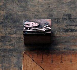 SEEROSE-Kupferdruckstock-Galvano-Druckstock-Klischee-Jugendstil-Art-Nouveau-Deko