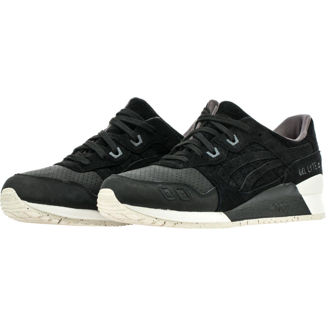 Asics Tiger Mens Mens Mens Gel-Lyte III 3 Perforated Black Classic Retro shoes H7E0L-9090 d4f782