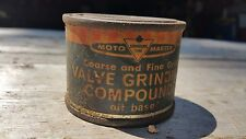Vintage Moto Master Canadian Tire Valve Grinding Compound Oil Base 2 Ounce Tin
