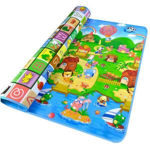 2-SIDE-BABY-PLAY-MAT-KIDS-CRAWLING-EDUCATIONAL-SOFT-FOAM-BABY-CARPET-200X180CM