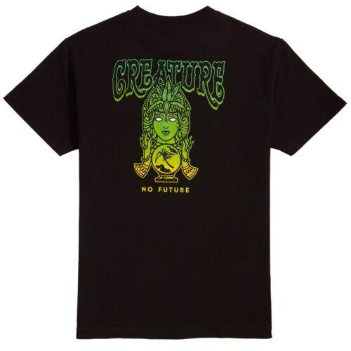 Creature NO FUTURE Skateboard T Shirt BLACK XL