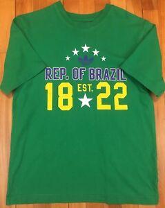 Shirt About Details Medium Brazil National Soccer Team Slim Originals Green Fit Small Adidas T 0yNnwvOm8