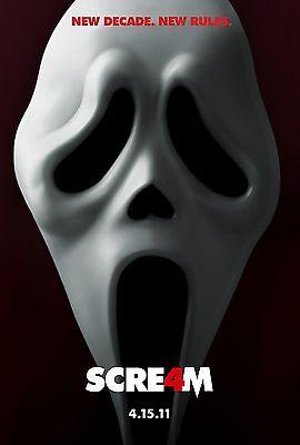 SCREAM 4 Movie Poster Wes Craven Horror Slasher