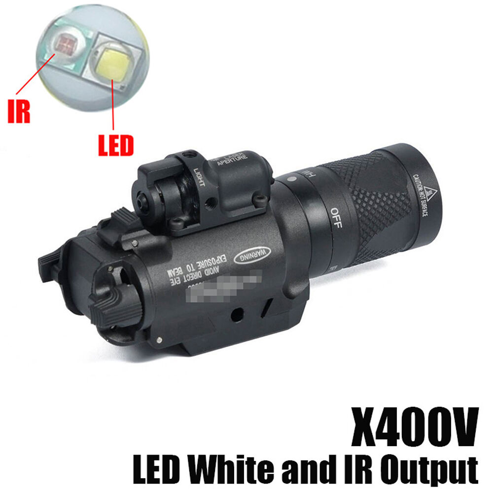 Tactical Light X400V-IR White Light and IR Output with Red Laser Infrared Output