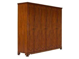 Kleiderschrank 6turig Braun Holz Wascheschrank Schlafzimmer Mobel