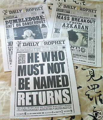 3  HARRY POTTER DAILY PROPHET PAGES