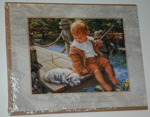 14x11 Frameable Moments art print NEW Shrinkwrap GONE FISHING Sandra Kuck
