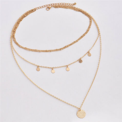 Choker Necklace Charm Chain Jewelry Multilayer Fashion Women Lady Alloy Clavicle